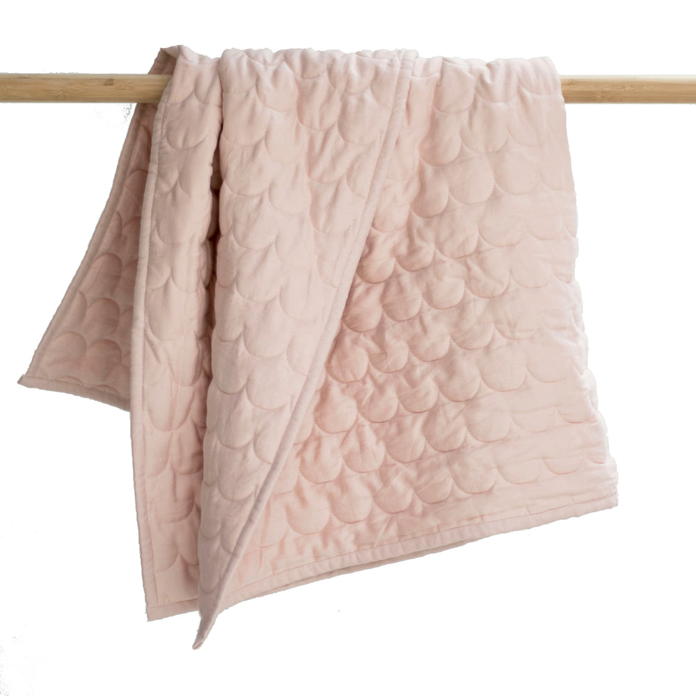 Burrow & Be Dusty Rose Cot Quilt / Floor Mat