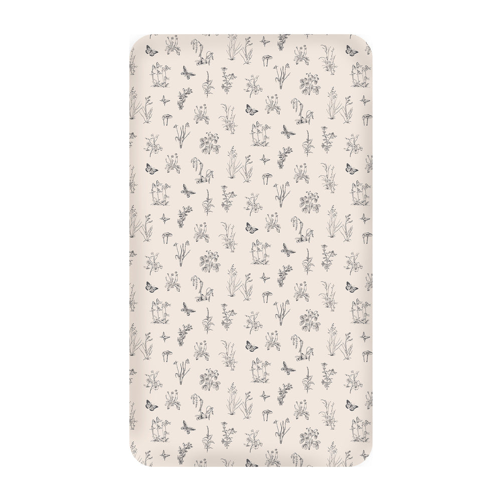 Burrow & Be Blush Meadow Cot Sheet