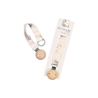 Burrow & Be Pacifier Clip Almond Burrowers
