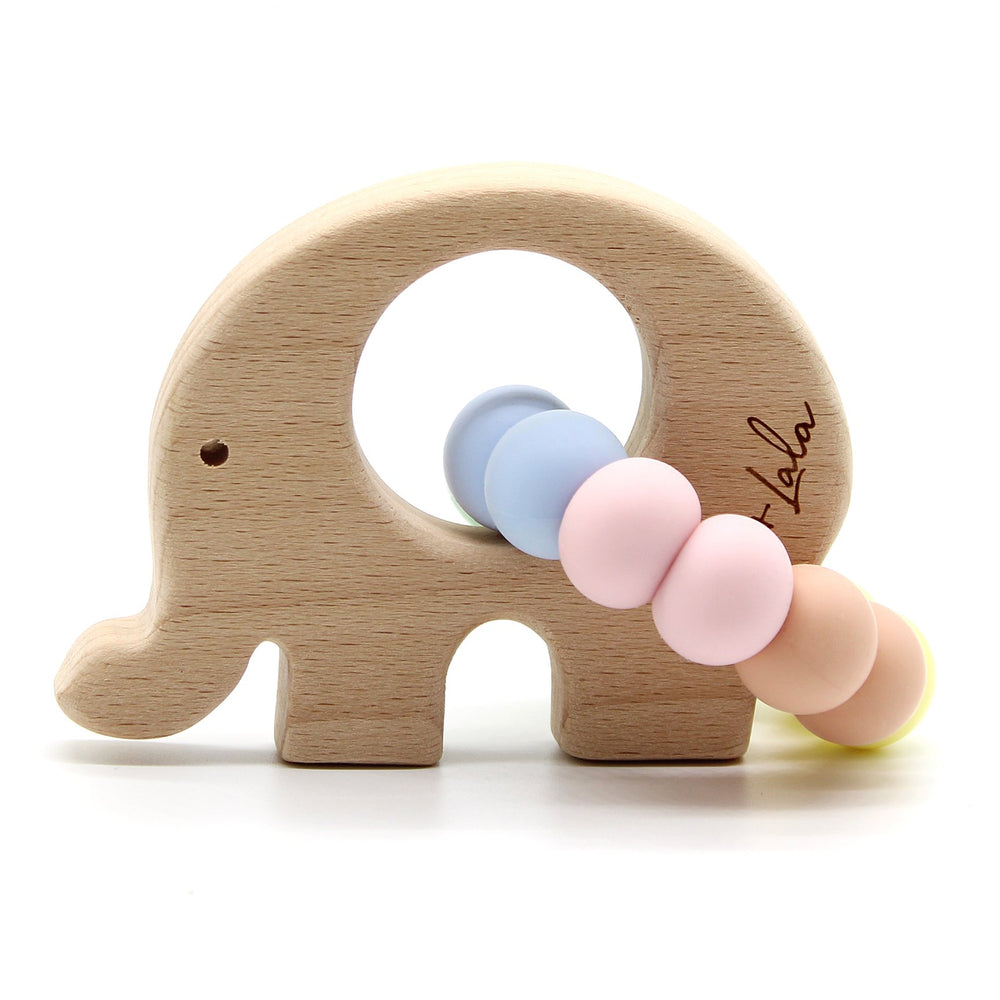 Lulu + Lala Teether Elle Pastel