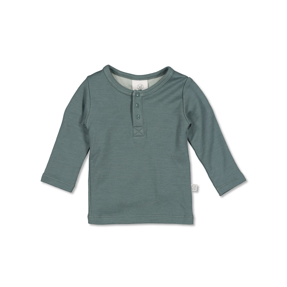 Burrow & Be Henley Merino/Bamboo Top Storm