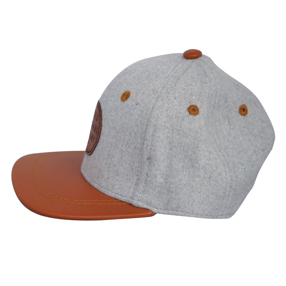 Little Renegade Company Grey Felt & Tan Cap
