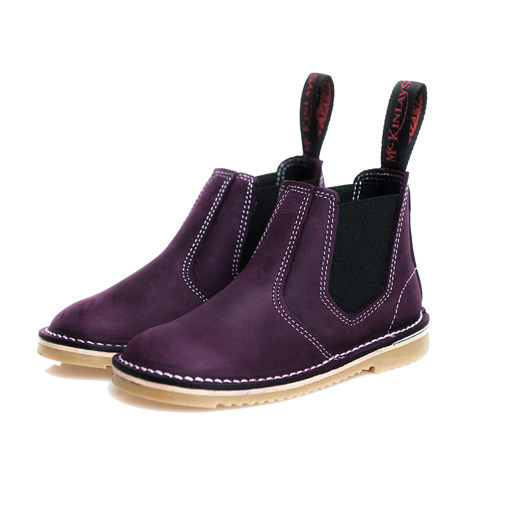 McKinlays Hunter Jnr Nubuck Purple