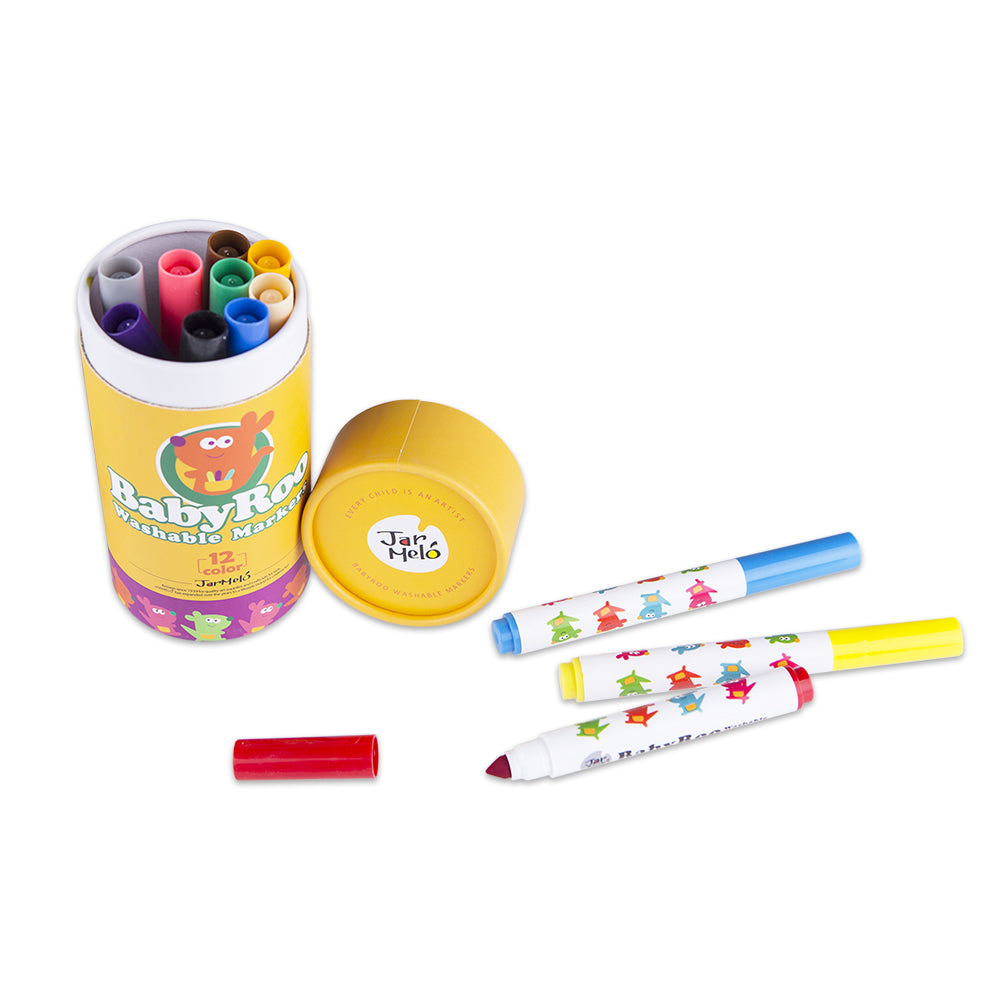 JarMelo Washable Markers 12 Colours