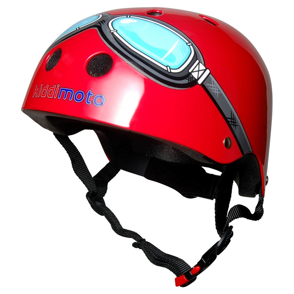 Kiddimoto Helmet Red Goggle