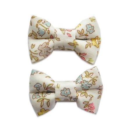 Katie Twin Bow Snaps Liberty Danish Floral