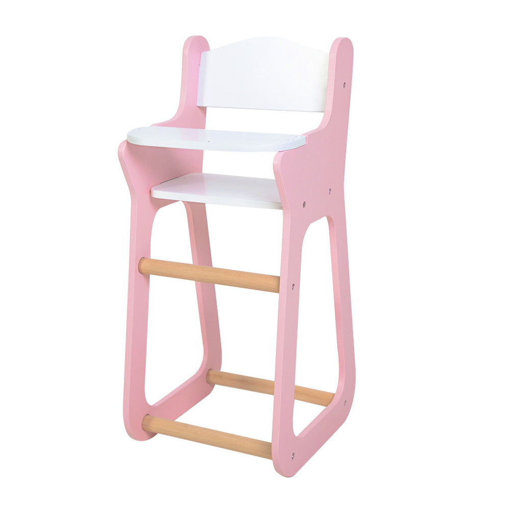 Moover Wooden Doll High Chair Pink