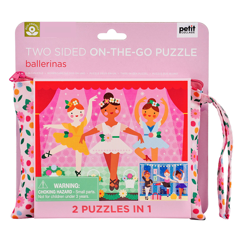 Le Petit Collage Ballerinas Two Sided On the Go Puzzle