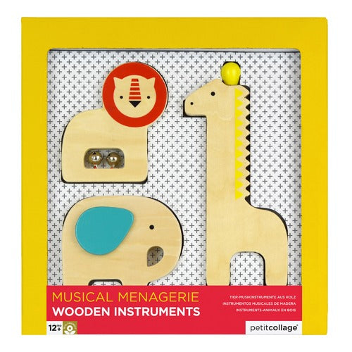 Le Petit Collage Wooden Animal Instruments