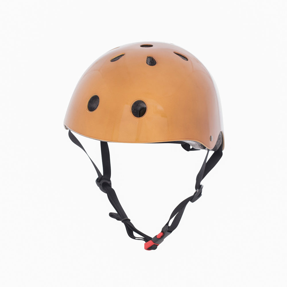 Kiddimoto Helmet Metallic Gold