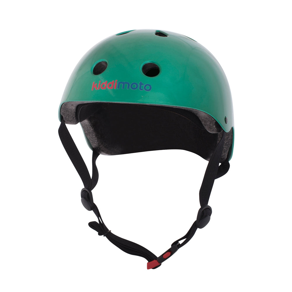 Kiddimoto Helmet Metallic Jade Green