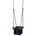 Solvej Baby and Toddler Canvas Swing, Midnight Blue