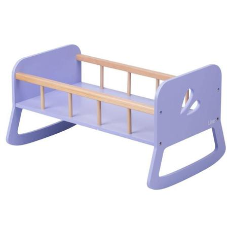 Moover Wooden Doll Cradle Purple