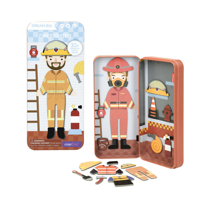 Magnetic Puzzle Box Firefighter