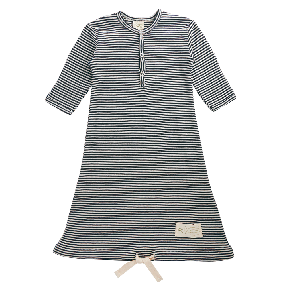 Nature Baby Sleeping Gown Navy Stripe