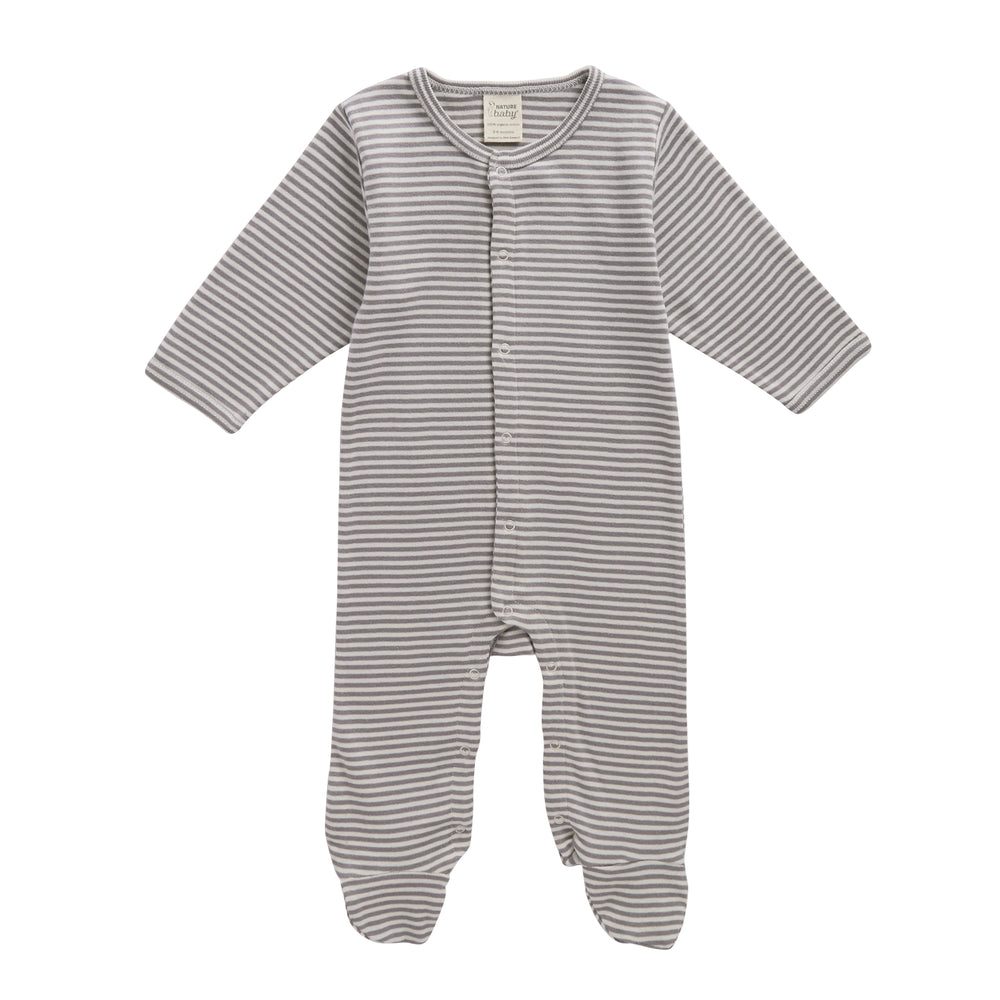 Nature Baby Stretch & Grow Grey Marl Stripe