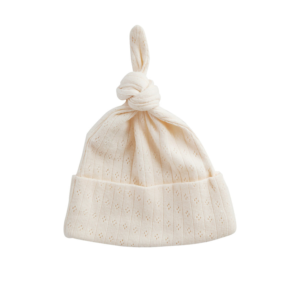 Nature Baby Knotted Beanie Pointelle