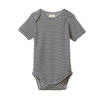 Nature Baby Short Sleeve Bodysuit Navy Stripe