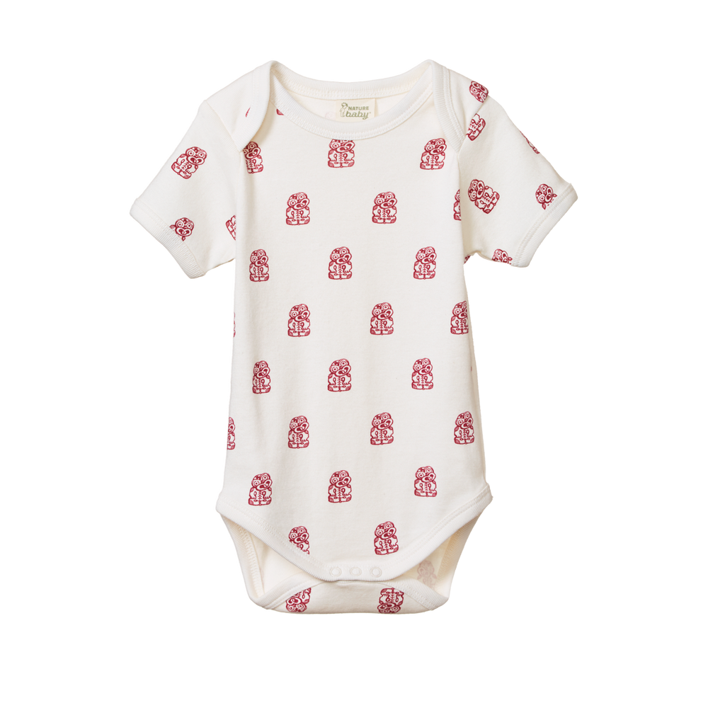 Nature Baby Short Sleeve Bodysuit Tiki (Last Size 0-3m)