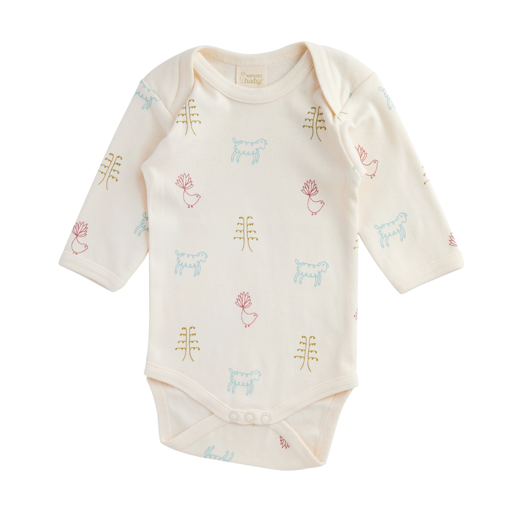 Nature Baby Long Sleeve Bodysuit Nature Baby Print