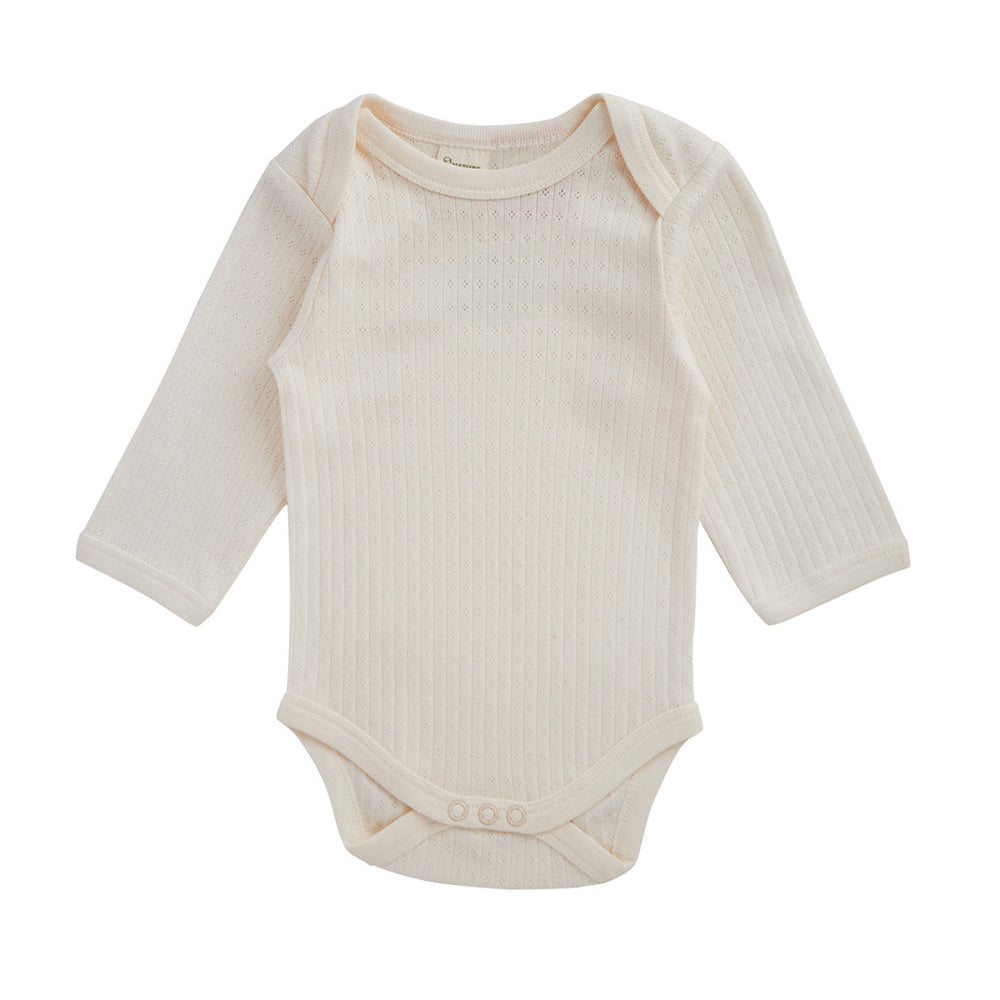 Nature Baby Long Sleeve Bodysuit Pointelle