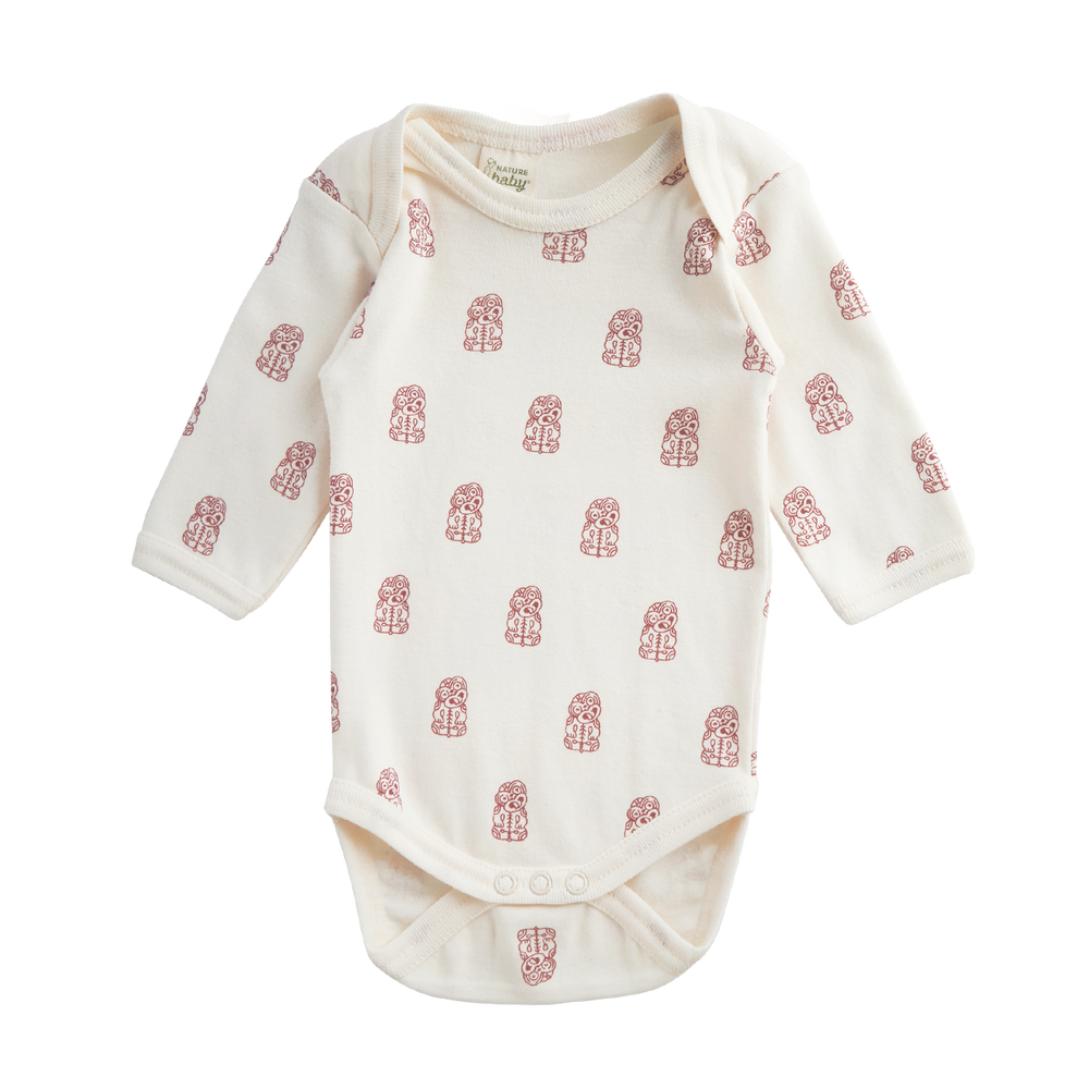 Nature Baby Long Sleeve Bodysuit Tiki Print