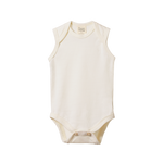 Nature Baby Merino Singlet Bodysuit Natural