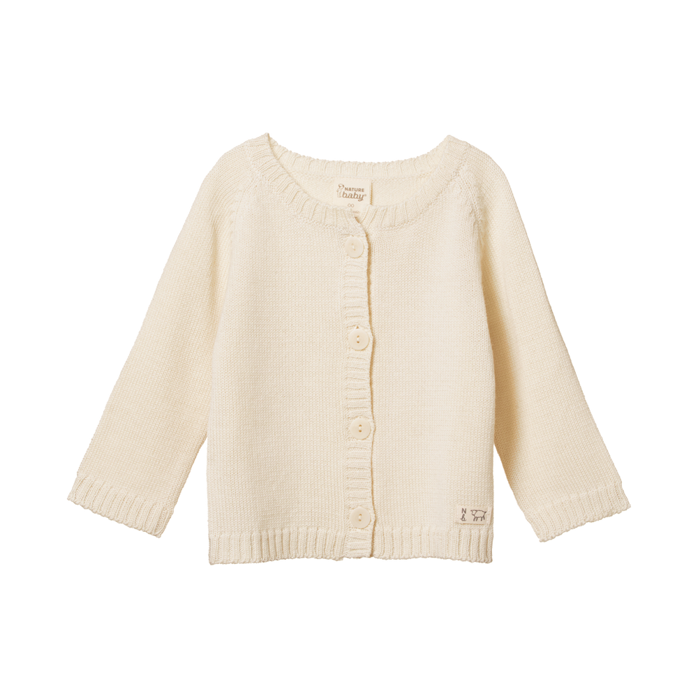 Nature Baby Merino Knit Cardigan Natural