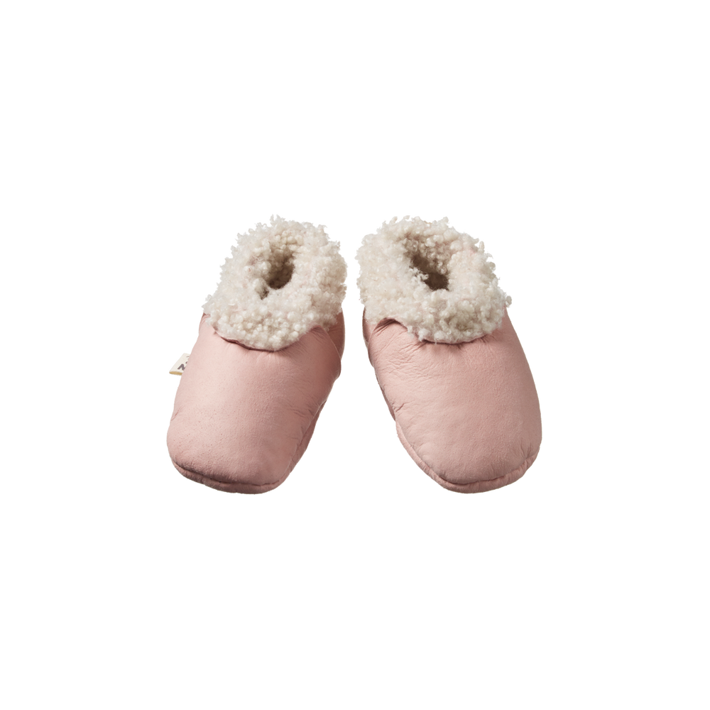 Nature Baby Lambskin Booties Rose Bud