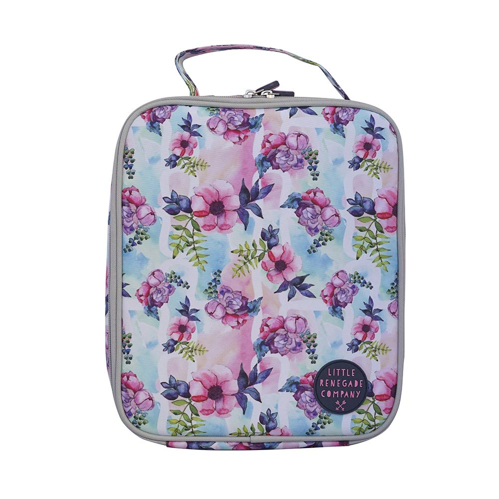 Little Renegade Pastel Posies Insulated Lunch Bag