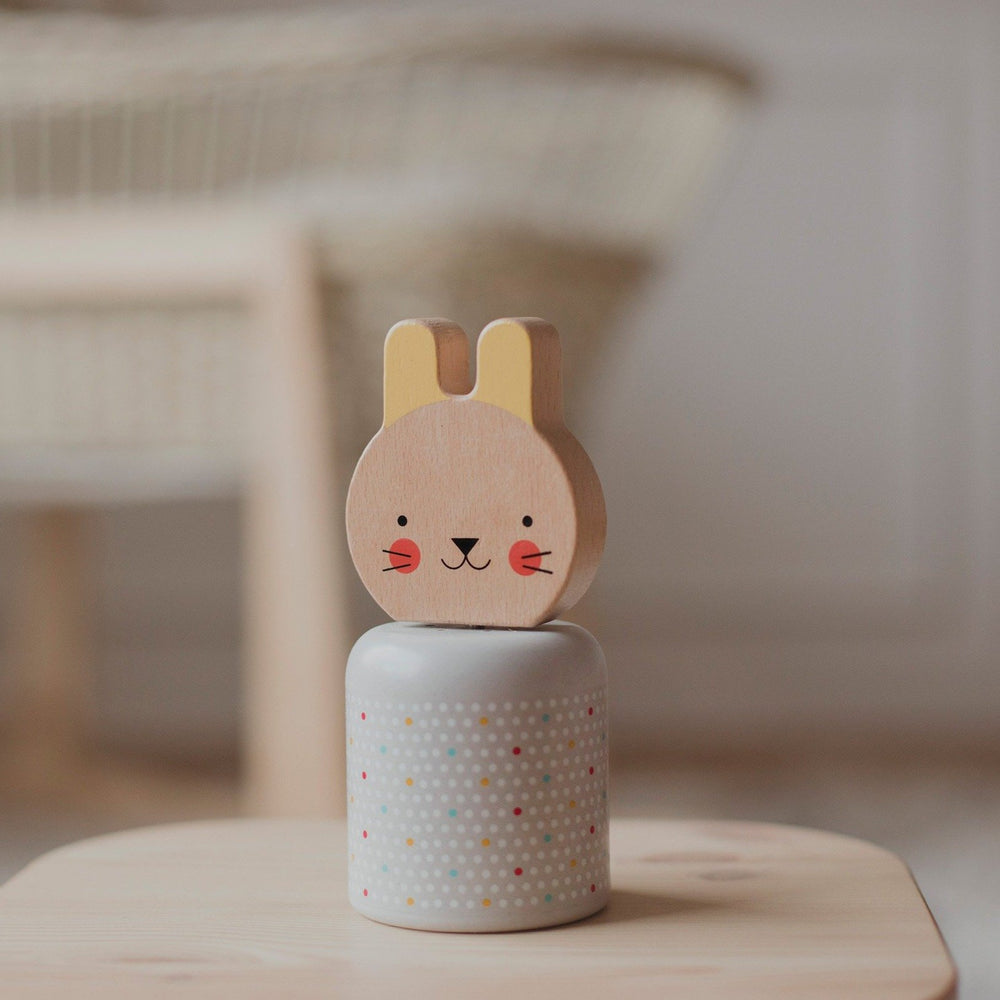 Le Petit Collage Wind Up Wooden Musical Bunny