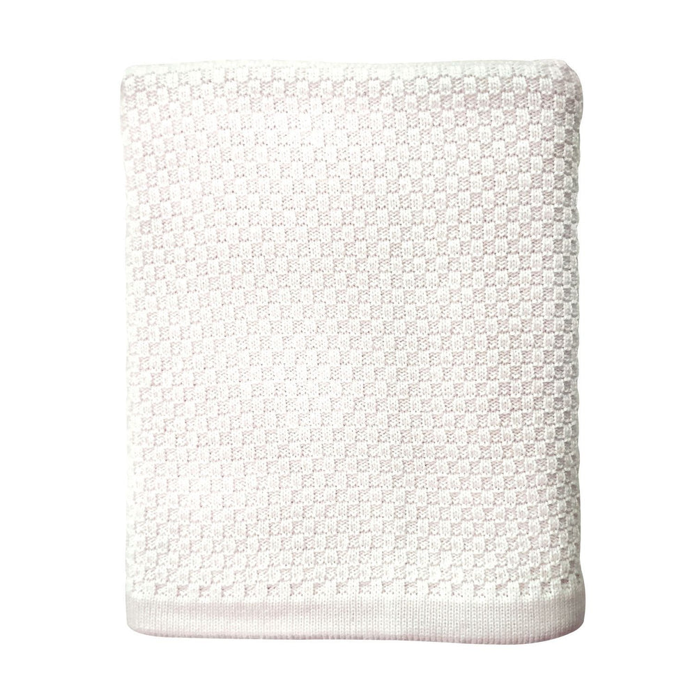 Heirloom Baby Merino Blanket Basket Weave Bianco