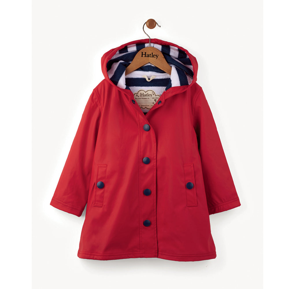 Hatley Splash Jacket Red and Navy