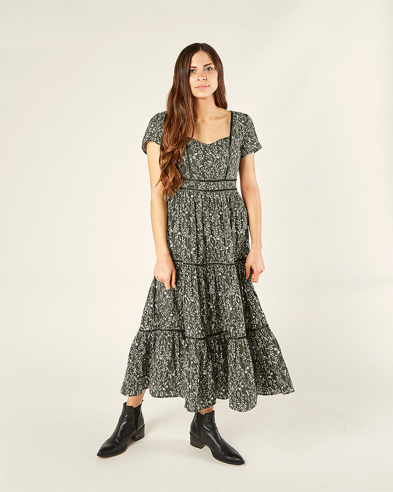 Rylee & Cru Womens Ada Dress Forest