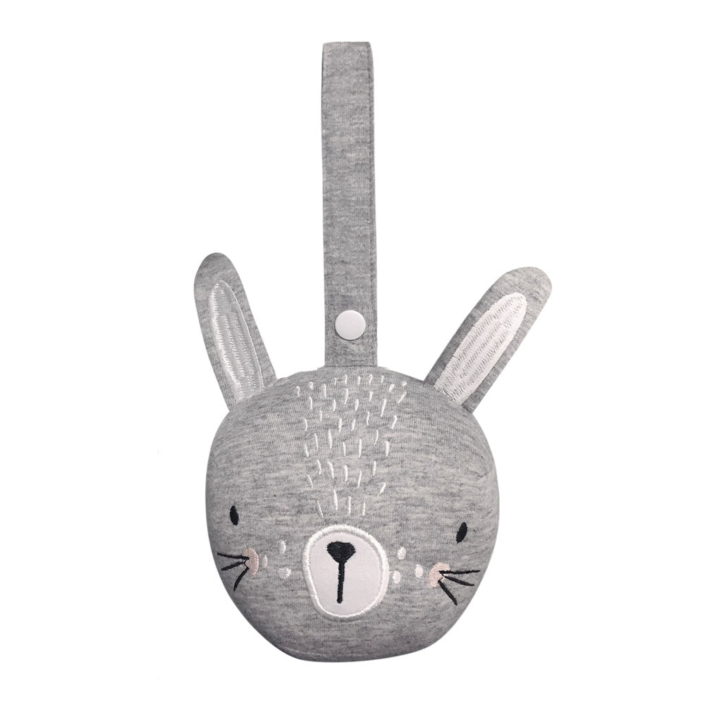 Mister Fly Pram Rattle Ball Grey Bunny