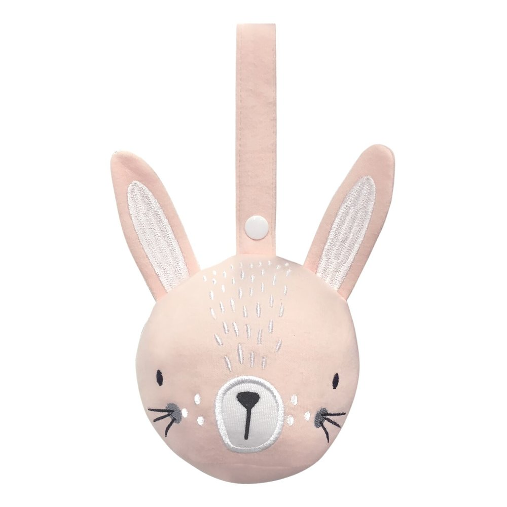 Mister Fly Pram Rattle Ball Pink Bunny