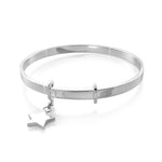 Extendable Sterling Silver Bangle with Star Charm