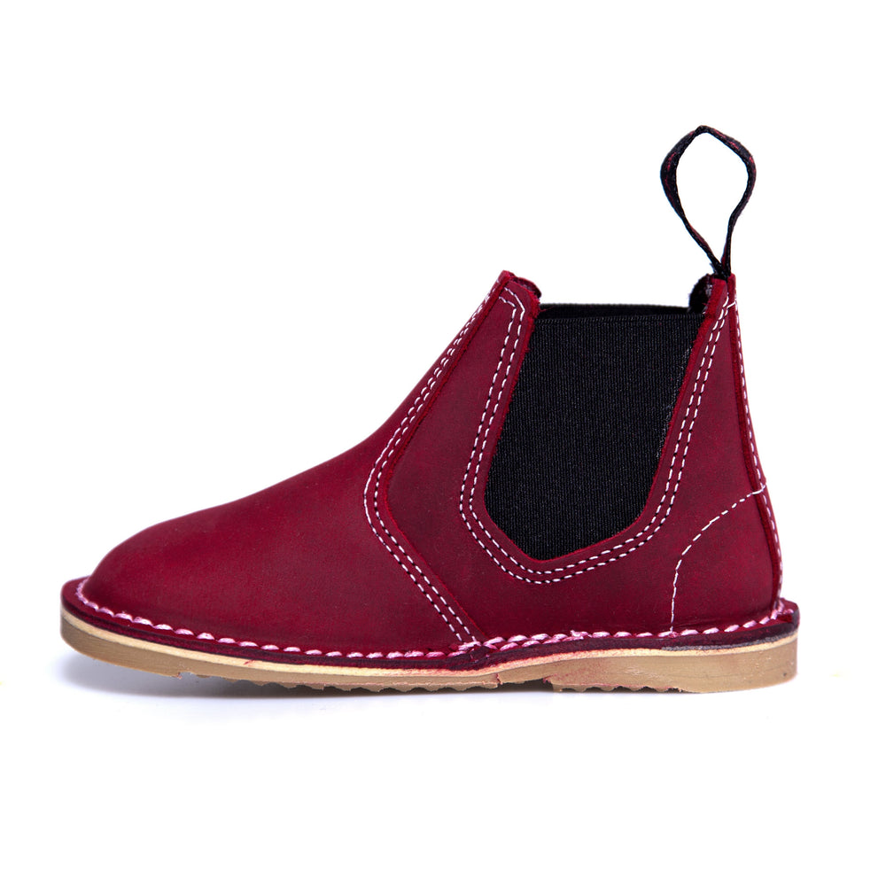 McKinlays Hunter Jnr Nubuck Raspberry