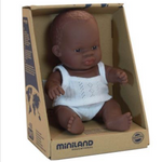 Miniland Anatomically Correct Baby Doll 21cm African Boy