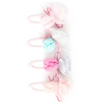 Pom Pom with Half Flower Single Snap Clip