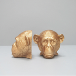 Bookends Gold Monkey