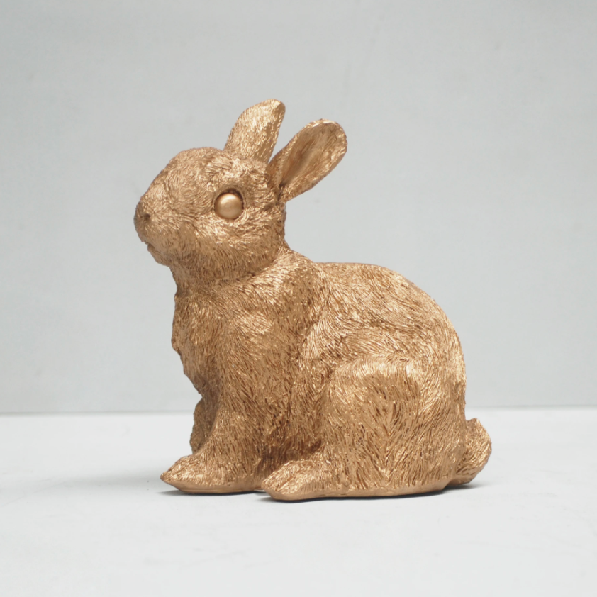 Money Box Gold Bunny