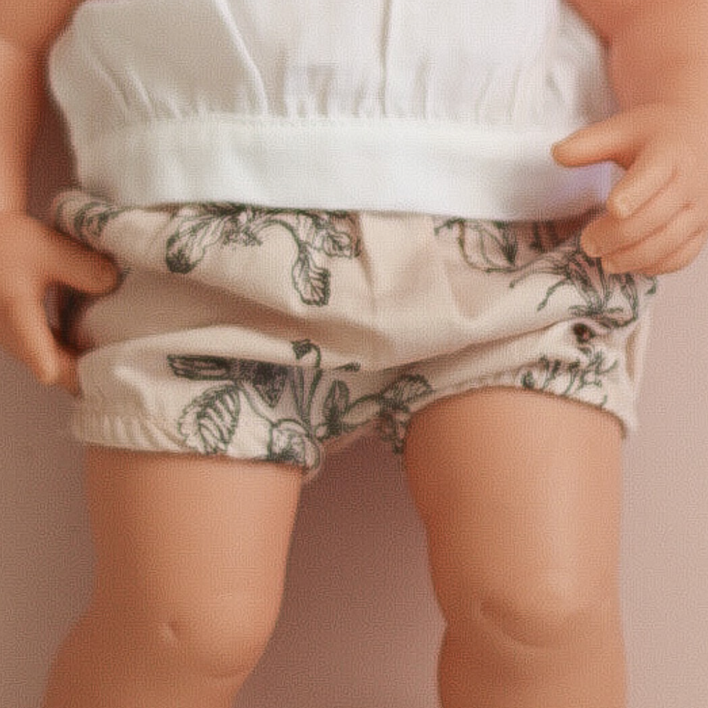 Burrow & Be Doll Clothing Blush Meadow Bloomers