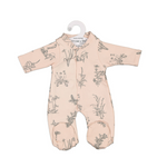 Burrow & Be Doll Clothing Blush Meadow Sleep Suit