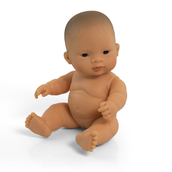 Miniland Anatomically Correct Baby Doll 21cm Asian Girl