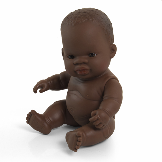 Miniland Anatomically Correct Baby Doll 21cm African Girl