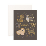 Happy Birthday Dogs Greeting Card