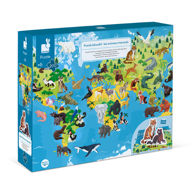 Janod Endangered Animals Puzzle