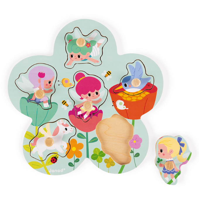 Janod Fairies Peg Puzzle