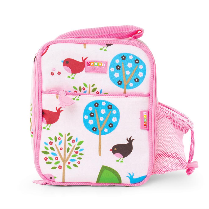 Penny Scallan Bento Cooler Bag with Pocket Chirpy Bird